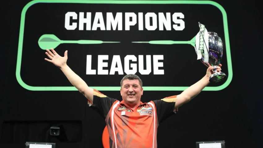 Champions League won by Mensur Suljovic