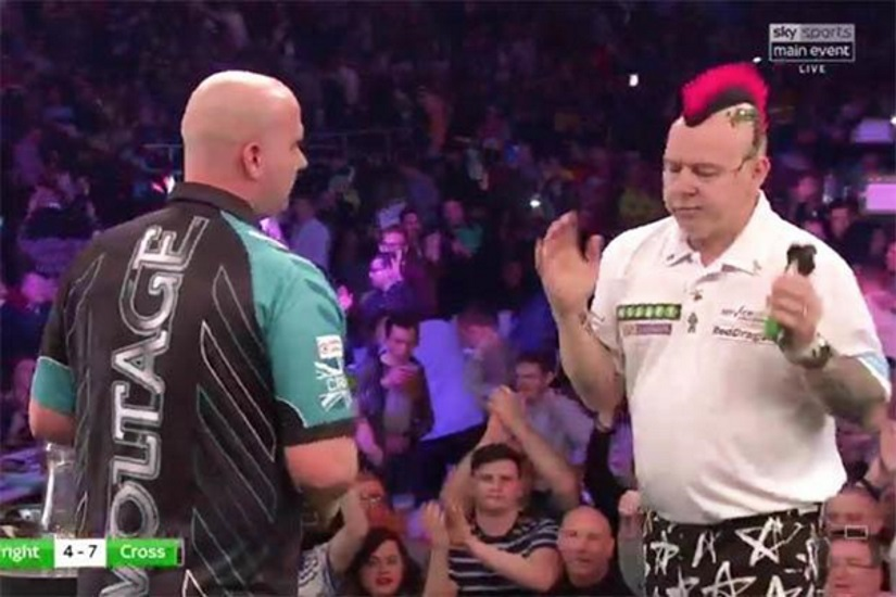 Rob Cross Beats Peter Wright in Darts Premier League