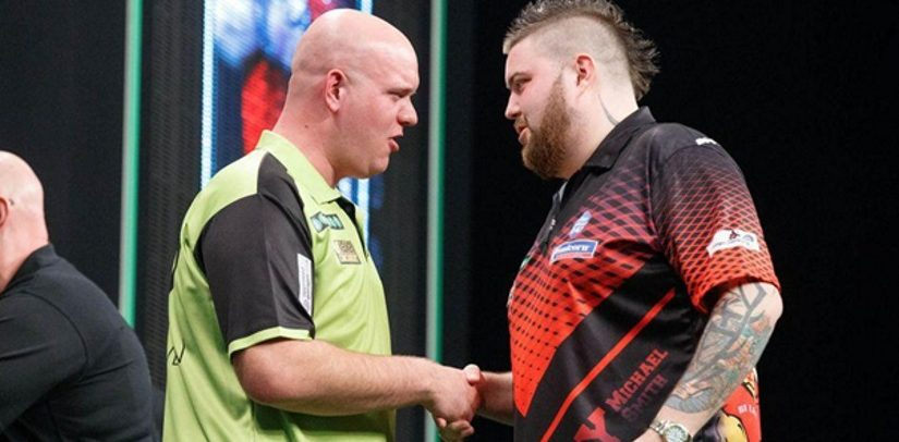 Michael van Gerwen Goes Clear At The Top After Victory Over Michael Smith In The Darts Premier League