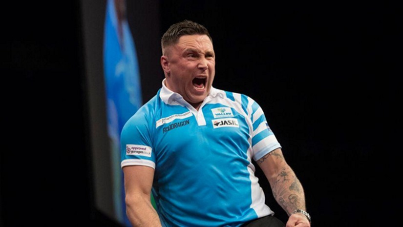 Gerwyn Price wins at the Darts Premier League