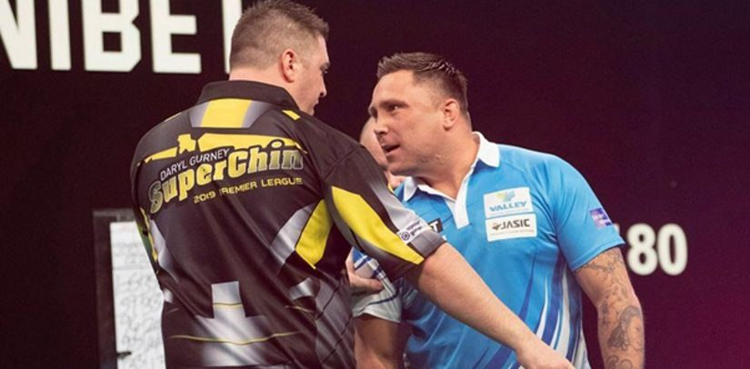 Gerwyn Price And Daryl Gurney Tie Before Coming To Blows