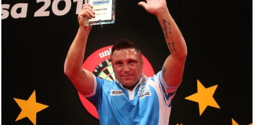 Gerwyn Price Defends International Darts Open